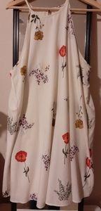 Sleeveless floral sun dress